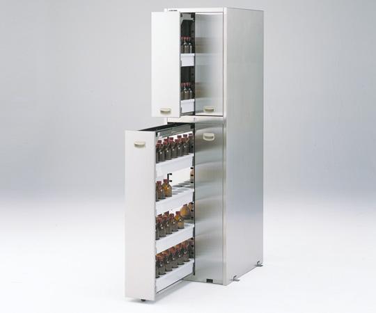 【直送品】 アズワン 耐震ステンレス薬品庫(SUS430) G-945S4 (3-4462-25) 【大型】《実験設備・保管》 【特大・送料別】