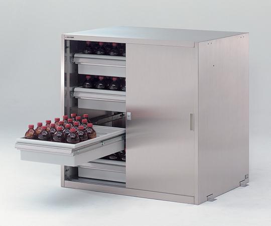 【直送品】 アズワン 耐震ステンレス薬品庫(SUS430) WG-990S4 (3-4462-26) 【大型】《実験設備・保管》 【特大・送料別】