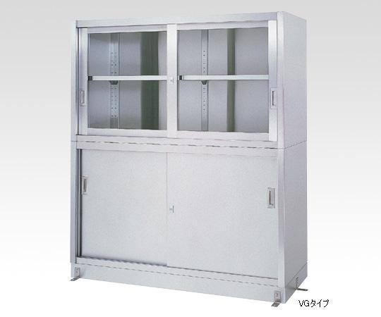 【直送品】 アズワン ステンレス保管庫(上部ガラス戸/下部ステンレス戸) 1-8254-02 《実験設備・保管》