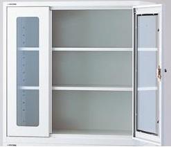 【直送品】 アズワン 耐震薬品庫(薄型) 2-7990-04 【大型】《実験設備・保管》 【特大・送料別】