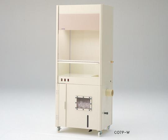 【代引不可】 アズワン コンパクトドラフト700P(PVC製・湿式スクラバー一体型) 3-5332-21 【特大】《グローブボックス》 【メーカー直送品】