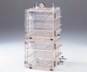 アズワン 成形真空デシケーター MVD-300 (1-5811-01) 《実験設備・保管》