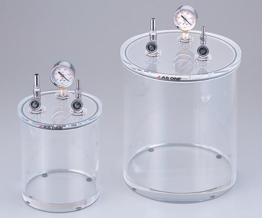 アズワン アクリル小型真空容器 200型 (2-7875-01) 《デシケーター》