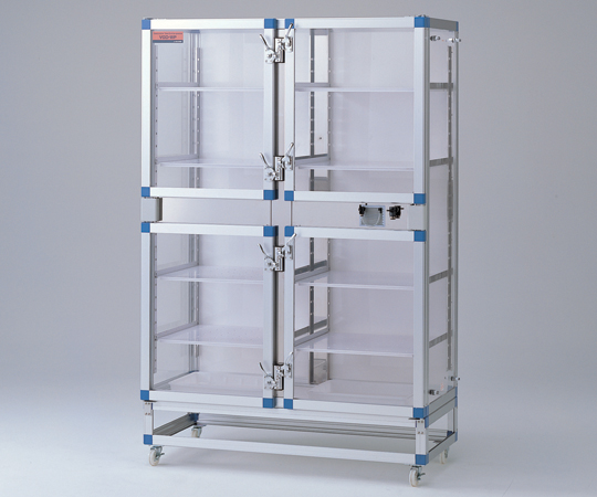 【直送品】 アズワン ガス置換デシケータ (マノメータ付) VGD-WS (2-7968-04) 【大型】《実験設備・保管》 【特大・送料別】