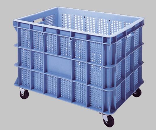 【直送品】 アズワン コンテナ BS-140キャスター付 (1-8662-03) 《容器・コンテナー》