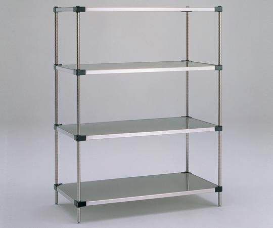 アズワン ソリッドエレクターシェルフ標準セット MSS1220SET (1-4581-01) 《実験設備・保管》