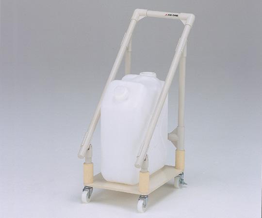 【代引不可】 アズワン 廃液回収トレーワゴン ポリタンク1ヶ用 (1-6083-01) 《ワゴン・台車・脚立》 【メーカー直送品】