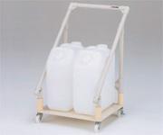 【直送品】 アズワン 廃液回収トレーワゴン ポリタンク2ヶ用 (1-6083-02) 《実験設備・保管》