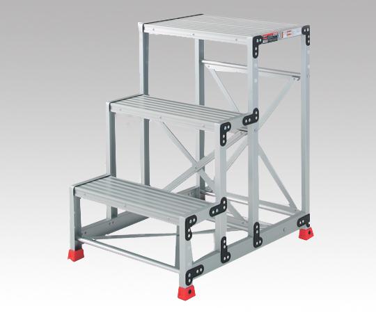 【直送品】 アズワン 踏台 (アルミ合金製) TSF-369 (1-9523-03) 《実験設備・保管》