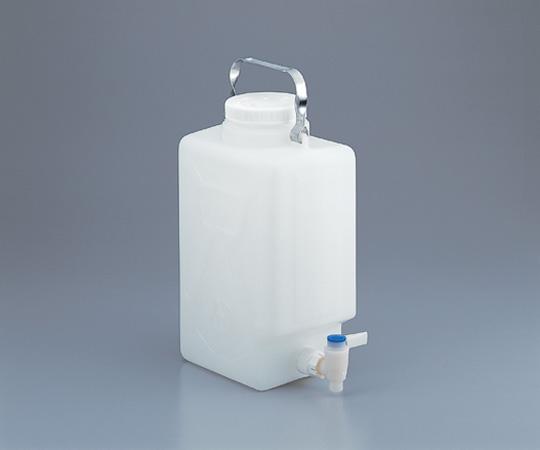 アズワン フッ素加工活栓付角型大型瓶 2327-0020 (1-6487-01) 《容器・コンテナー》