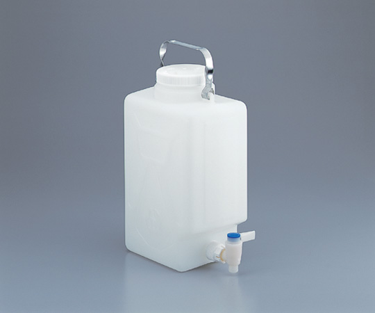 アズワン フッ素加工活栓付角型大型瓶 2327-0050 (1-6487-02) 《樹脂製容器》