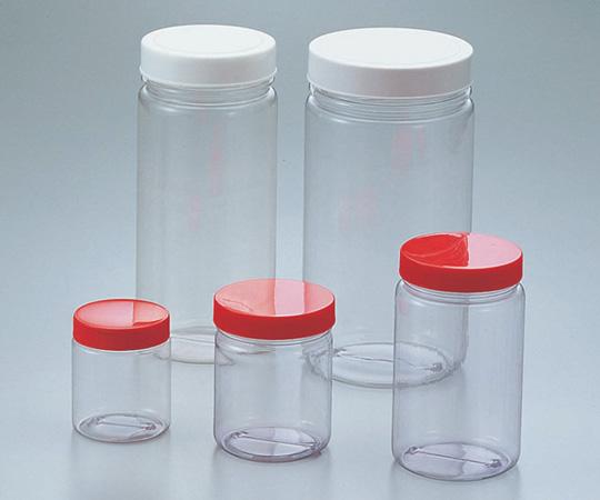 アズワン 広口T型瓶 (透明エンビ製)(ケース販売) 1l 5-026-53 《樹脂製容器》