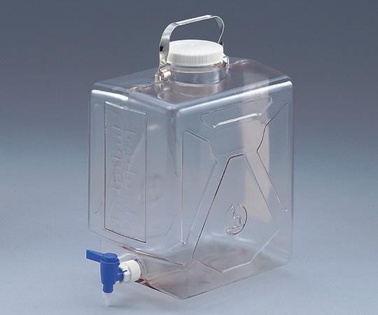 アズワン ナルゲン透明活栓付角型瓶 2322-0020 (5-058-01) 《樹脂製容器》