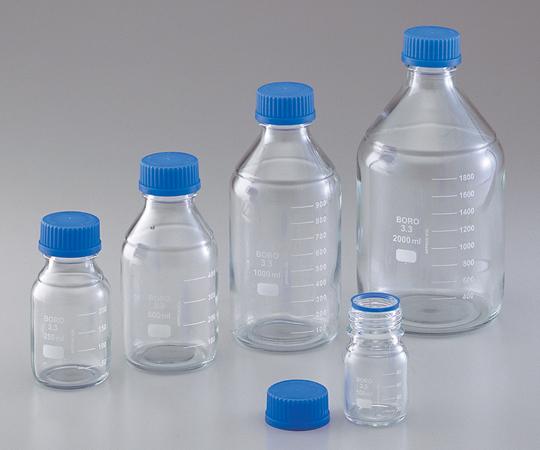 アズワン ねじ口試薬瓶 2002-5000SD (1-4870-06) 《ガラス製容器》