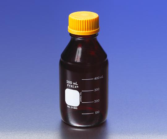 アズワン メディウム瓶 (PYREX(R)オレンジキャップ付) 1-4993-07 《ガラス製容器》