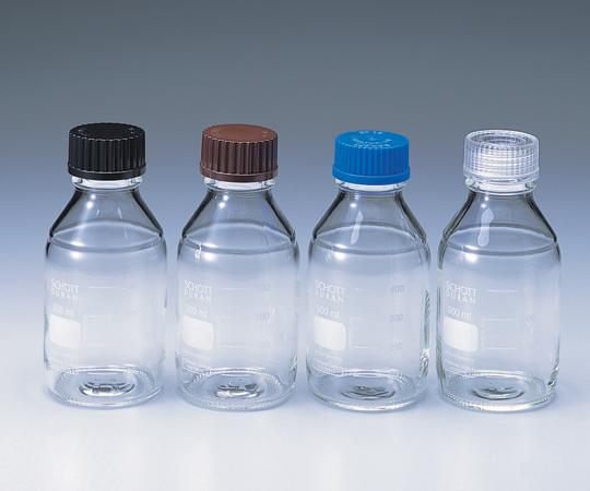 アズワン ねじ口瓶丸型白 (デュラン(R)) 2-075-07 《容器・コンテナー》