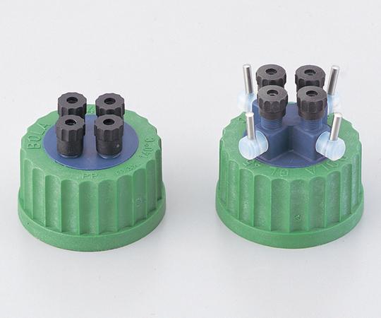 アズワン ねじ口瓶用キャップ (硬質チューブ用) BL60708 (1-7405-02) 《ガラス製容器》