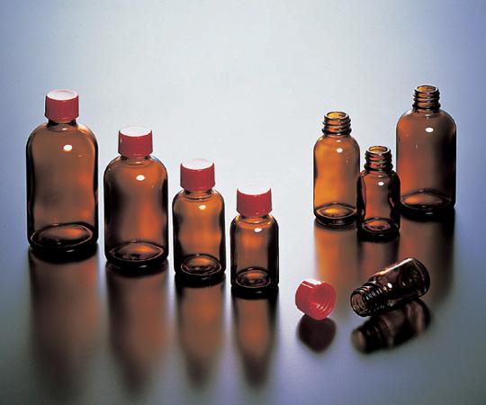 アズワン 細口規格瓶 LT-100(褐色) (5-131-04) 《ガラス製容器》
