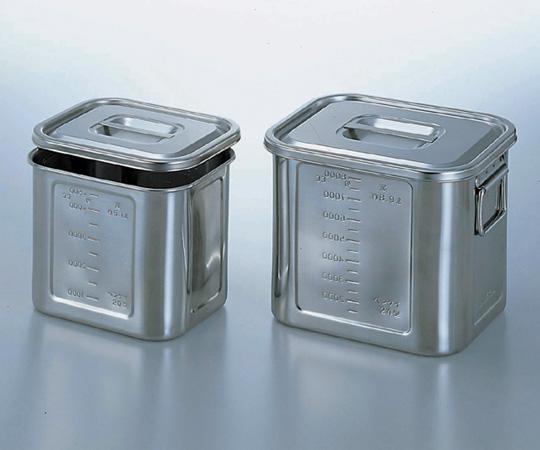 アズワン 角型目盛付きポット 22 (4-1006-07) 《容器・コンテナー》