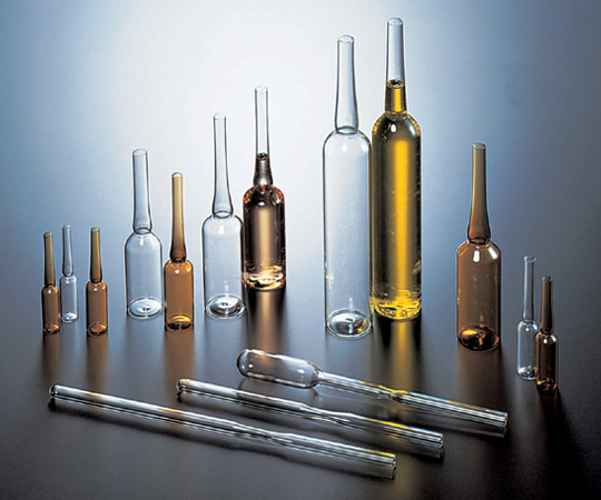 アズワン アンプル管 (硼珪酸ガラス製) 5-124-04 《ガラス製容器》