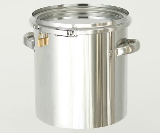 アズワン 南京錠付密閉式タンク (CTLタイプ) CTLK-43 (1-7504-07) 《金属製容器》