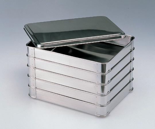 アズワン 積重ね式ステンバット (5段フタ付き) 小 (5-174-02) 《金属製容器》