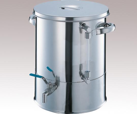 アズワン ボールバルブ付タンク (液面計付) OM48-24 (2-8131-05) 《金属製容器》