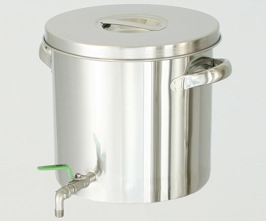 アズワン ステンレスバルブ付タンク STV-21 (2-8225-02) 《金属製容器》