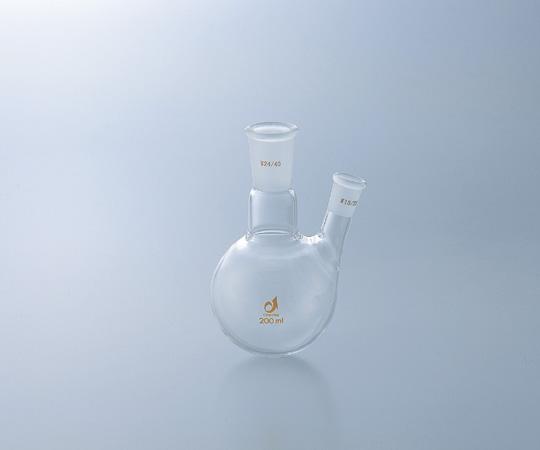 アズワン 共通摺合二つ口フラスコ 0078-10-10 (1-4329-04) 《実験器具・材料・備品》