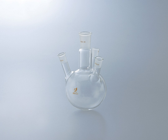 アズワン 共通摺合四つ口フラスコ 0082-07-40 (1-4362-05) 《実験器具・材料・備品》