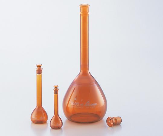 アズワン メスフラスコ (普通摺合) 1-8564-31 《実験器具・材料・備品》