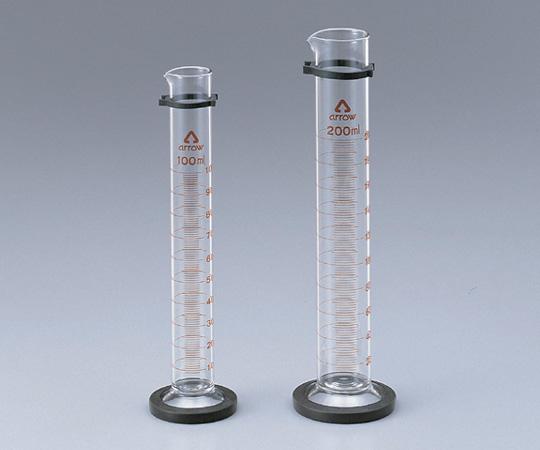 アズワン メスシリンダー (硬質ガラス) 6-231-12 《実験器具・材料・備品》