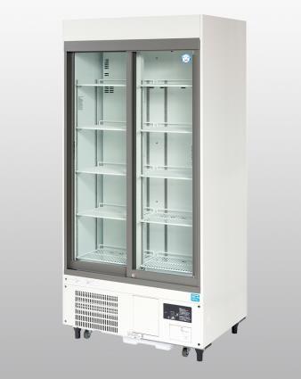 【直送品】 アズワン 冷蔵ショーケース FMS-500GH (1-5460-31) 《研究・実験用機器》 【特大・送料別】