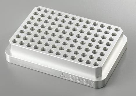 アズワン アルミブロック ABR-96PLT (2-7744-11) 《研究・実験用機器》