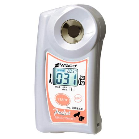 アタゴ (ATAGO) ポケット犬猫尿比重屈折計 PAL-犬猫尿比重 (PAL-DCN) (NO4529)
