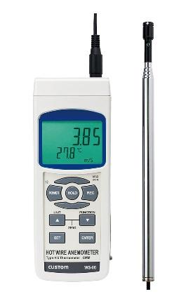 カスタム (CUSTOM) デジタル風速/風量計 WS-06 (115-1638)
