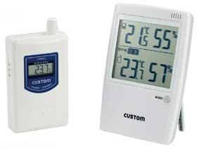 カスタム (CUSTOM) 熱中症警告インジケーター付無線温湿度モニター HI-01RF (417-4518)