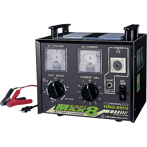 【代引不可】 デンゲン 多連結充電器 6V~96V HRD-9610 〈MAX EIGHT8〉 【メーカー直送品】
