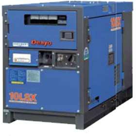 最小の電圧変動率と並形歪。安定した電力供給が可能な単相発電機  【直送品】 Denyo (デンヨー) ディーゼル発電機 DCA-8LSX 防音型 【大型】