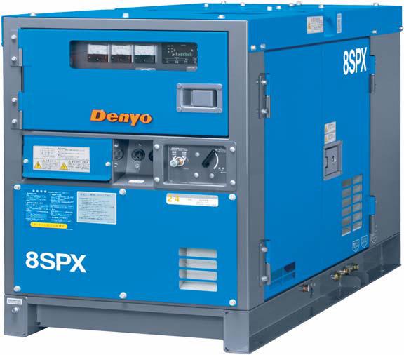 灯油で動く発電機  【直送品】 Denyo (デンヨー) 単相エンジン発電機 KCA-8SPX 灯油仕様 【大型】