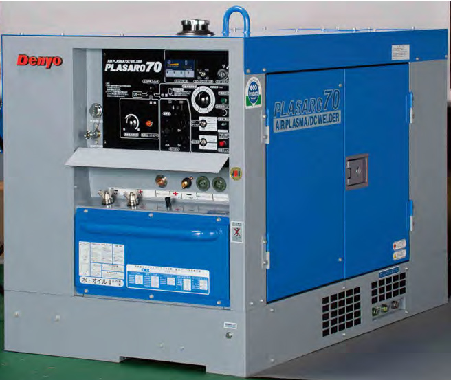 【直送品】 Denyo (デンヨー) エアプラズマ切断・直流アーク溶接 兼用機 PCX-70LS 超低騒音型 【大型】
