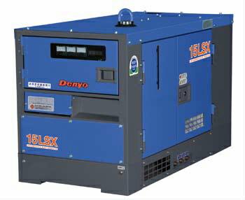 新世代エンジン発電機TLGシリーズ  【直送品】 Denyo (デンヨー) 小型・中型ディーゼル発電機 TLG-15LSX 防音型(単相機) 【大型】