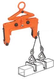世界のあらゆる工事・製造現場で選ばれている!  【直送品】 イーグル・クランプ コラム用クランプ CCV-500 (250~300) (38000300)