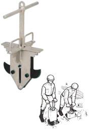 【直送品】 イーグル・クランプ 基礎ブロック用クランプ EFG-100 (39500160)