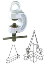 【直送品】 イーグル・クランプ ねじ式広開口クランプ SBN-500 (1~25) (2700025N)