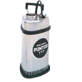 【直送品】 エバラポンプ(荏原製作所) P717型 ステンレス製水中ポンプ(PONTOS) P7176.4 (0.4kw 200/220V 60HZ)