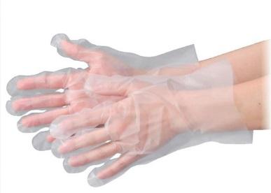 エブノ ポリエチレン手袋 No.3051 SS 半透明 6000枚(100枚×60袋) エブケアエンボス絞り