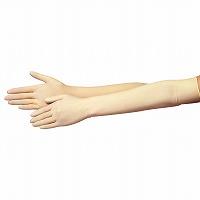【大箱特価】 エブノ ラテックス手袋 No.420 L ナチュラル (25双×4箱) 長~い手袋