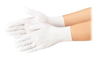 エブノ ニトリル手袋 No.554 M 白 3000枚入(100枚×30箱) ニトリルトライ3