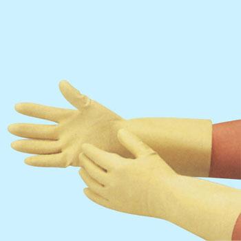 エブノ ラテックス手袋 R-32 L ナチュラル (10双×12袋) 天然ゴム薄手